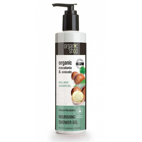 Gel Doccia Avocado e Macadamia - Organic Shop